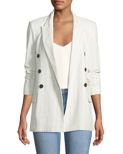Brea Striped Double-Breasted Blazer