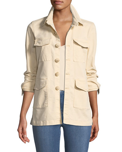 Victoria Button-Front Utility Jacket