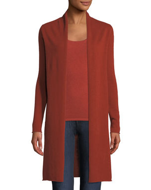 Neiman Marcus Cashmere Collection Classic Cashmere Duster Cardigan 2c5c301f4