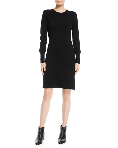 c7999a1874a Quick Look. Neiman Marcus Cashmere Collection · Cashmere Long-Sleeve  Sweater Dress