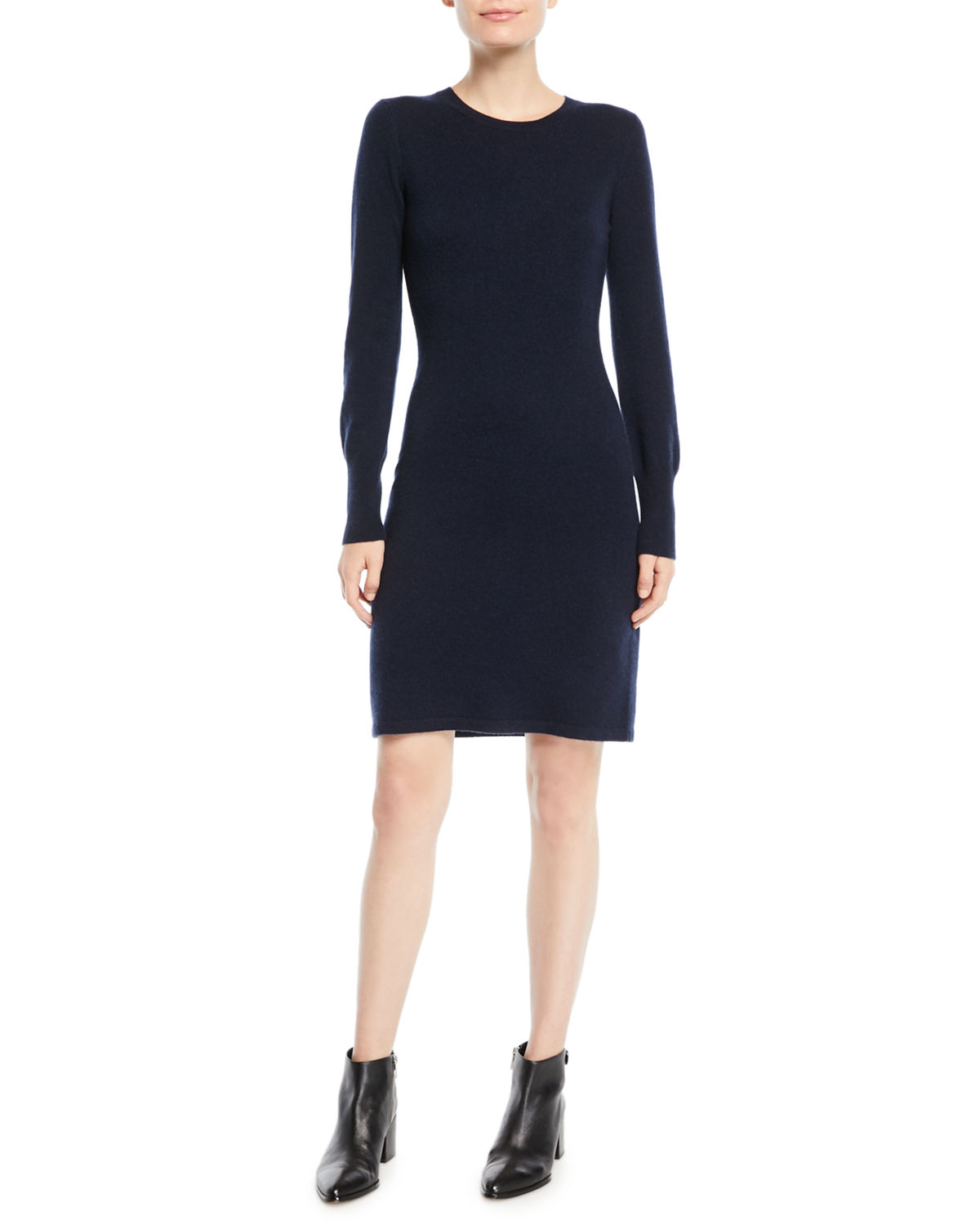 Cashmere Long-Sleeve Sweater Dress