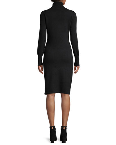 Neiman Marcus Cashmere Collection Cashmere Turtleneck Sweater Dress