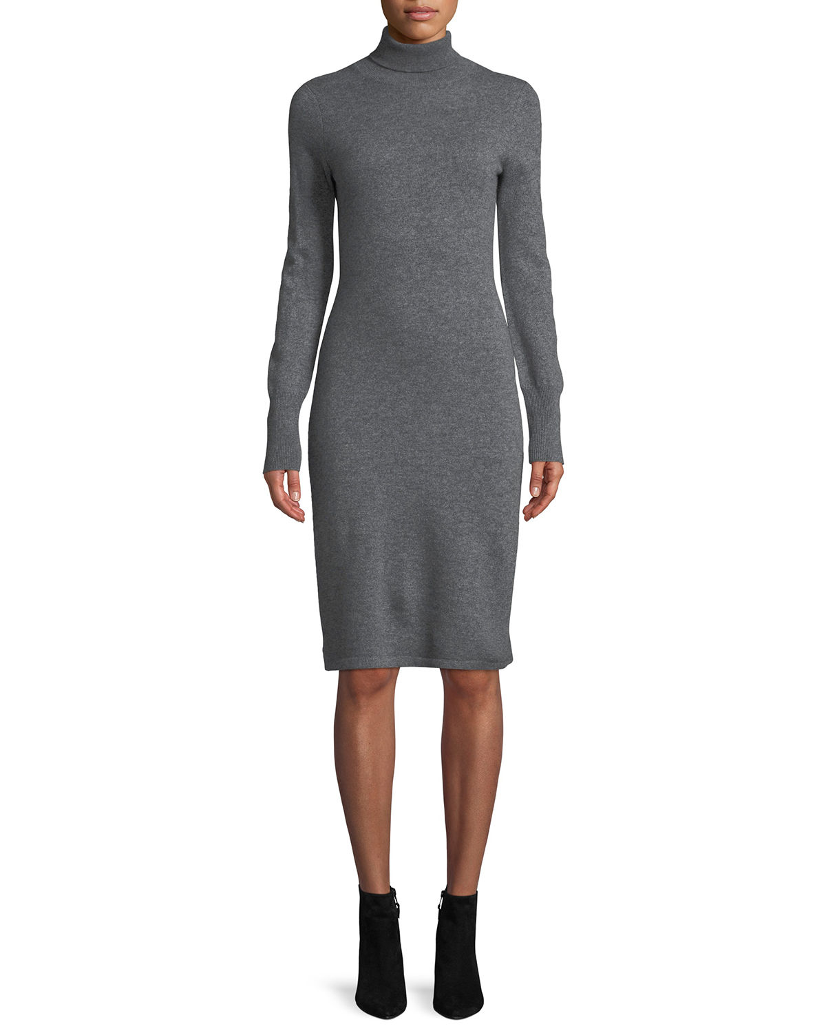 Cashmere Turtleneck Sweater Dress