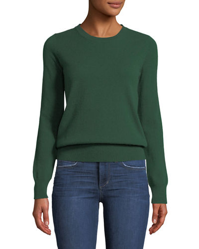 Cashmere Crewneck Sweater, Plus Size
