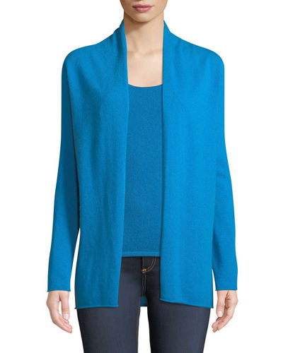 Plus Size Cashmere Draped Cardigan