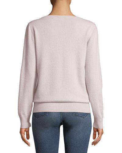 Plus Size Cashmere Relaxed V-Neck Sweater