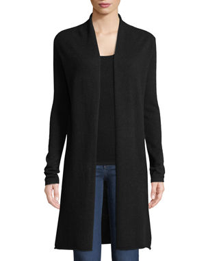 c3d4565ac36c Neiman Marcus Cashmere Collection Plus Size Cashmere Duster Cardigan