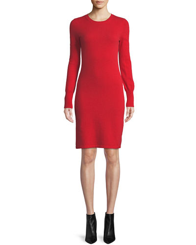 2fa71312aa79 Quick Look. Neiman Marcus Cashmere Collection · Plus Size Cashmere Long-Sleeve  Sweater Dress
