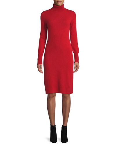 8eeb0e89c95 Quick Look. Neiman Marcus Cashmere Collection · Plus Size Cashmere  Turtleneck Sweater Dress
