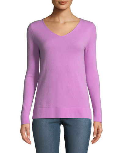 Cashmere Modern V-Neck Sweater