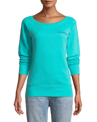 FOR BETTER NOT WORSE Nap Time Boat-Neck Long-Sleeve Pullover Sweater in Teal