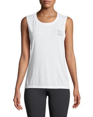 FOR BETTER NOT WORSE Venice Graphic Muscle Tank in White