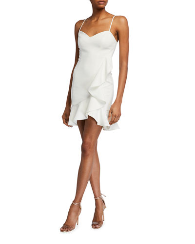 Laverna Draped Ruffle Mini Dress