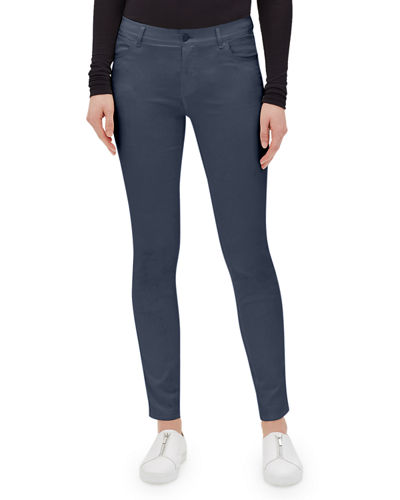 Lafayette 148 New York Mercer Skinny-Leg Waxed Denim Jeans