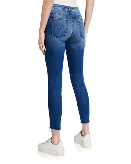 Image 2 of 3: MOTHER Looker Ankle Fray Skinny Jeans