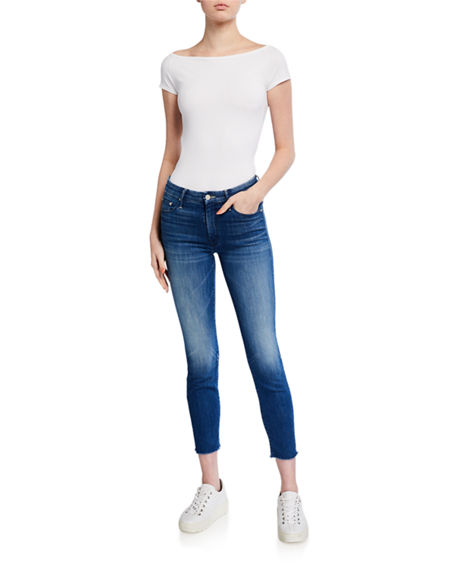 Image 3 of 3: MOTHER Looker Ankle Fray Skinny Jeans