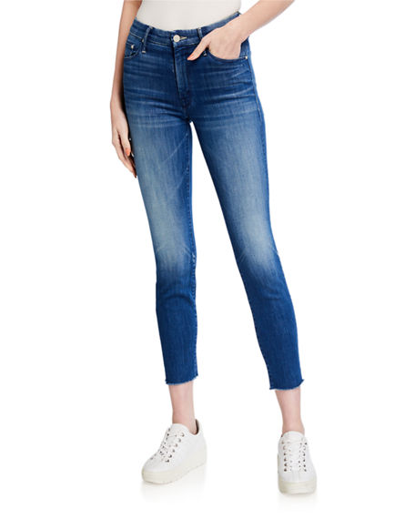 Image 1 of 3: MOTHER Looker Ankle Fray Skinny Jeans