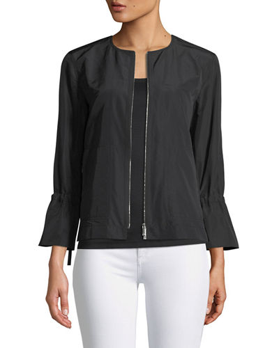Plus Size Johnsie Empirical Tech Cloth Zip Jacket