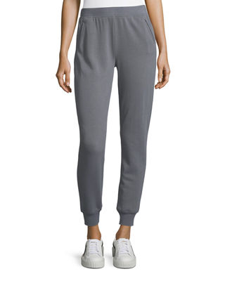 Slim Cuffed Pull-On Terry Sweatpants