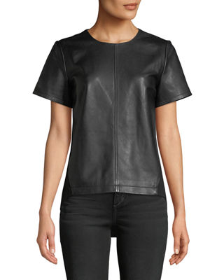 Neiman Marcus Leather Collection Lamb Leather & Ponte