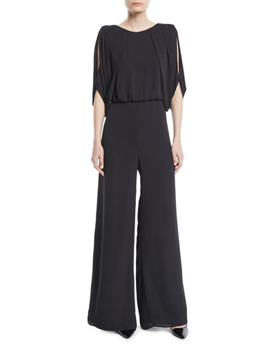 Draped Open-Back Jumpsuit