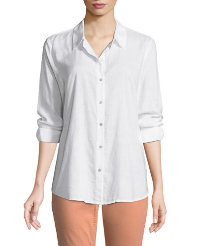 Crosshatch Classic Button-Front Shirt, Plus Size