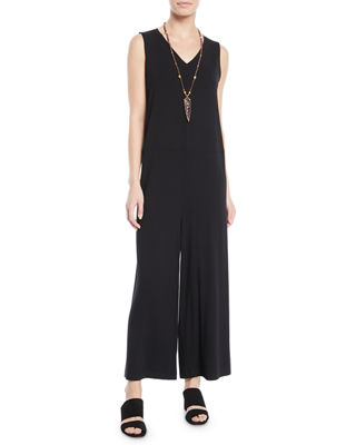 Eileen Fisher Wide-Leg Viscose Jersey Jumpsuit