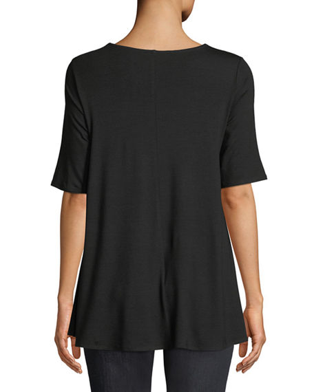 Image 2 of 4: Eileen Fisher Short-Sleeve Jersey Tunic