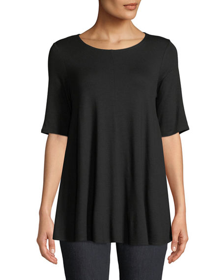 Image 1 of 4: Eileen Fisher Short-Sleeve Jersey Tunic
