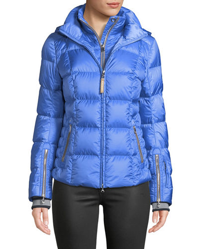 Vera Quilted Down Puffer Coat with Hood