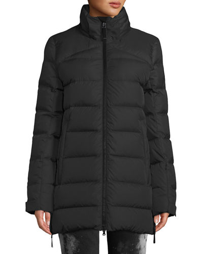 Bogner Cathy Down-Filled Puffer Coat w/ Removable Hood