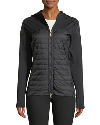 BOGNER Colby Long-Sleeve Zipper-Front Fitted Jacket in Black