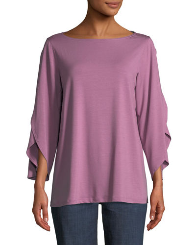 Eileen Fisher Lightweight Viscose Jersey Top, Petite