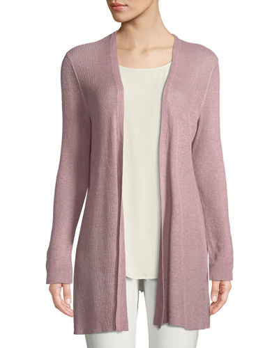 Organic Linen/Tencel Open Cardigan, Plus Size