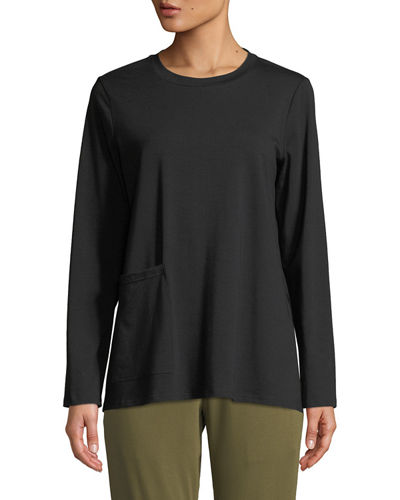 Organic Cotton Jersey Pocket Top, Petite