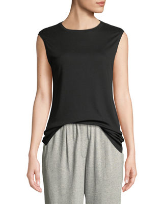 Eileen Fisher MicroTencel Sleeveless Tank Top and Matching