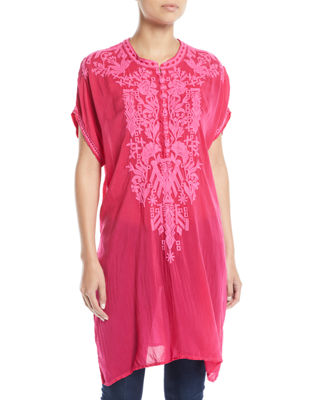 Johnny Was Lania Embroidered Long Tunic, Plus Size