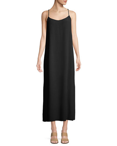 Solid Knit Slip Dress, Petite