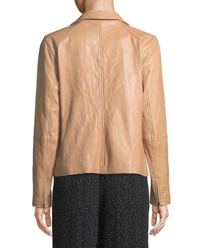 Rumpled Lux Leather Moto Jacket