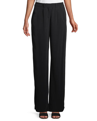 Eileen Fisher Viscose Crepe Straight-Leg Trousers