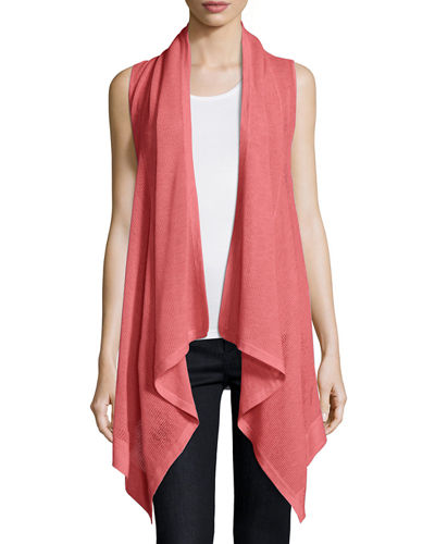 Neiman Marcus Cashmere Collection Superfine Cashmere Mesh Hooded