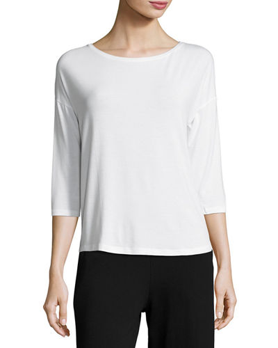 Majestic Paris for Neiman Marcus Soft Touch 3/4-Sleeve