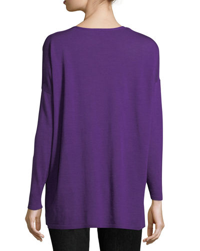 Ultrafine Merino V-Neck Tunic