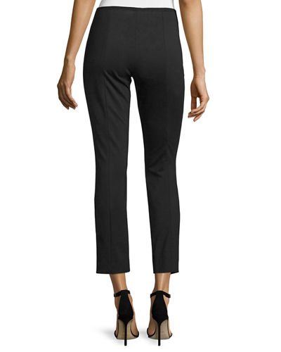 Nova Double-Knit Slim Ankle Pants