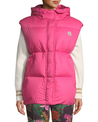 Moncler Cheveche Puffer Vest w/ Hood and Matching