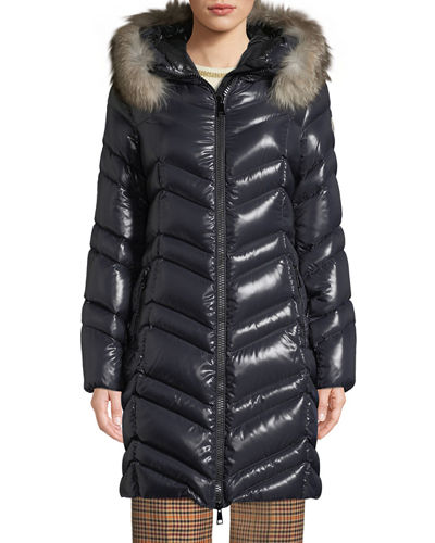 Fulmar Hooded Puffer Coat w/ Removable Fur Trim