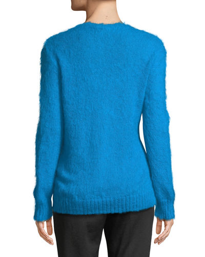 Mohair-Blend Pullover Sweater