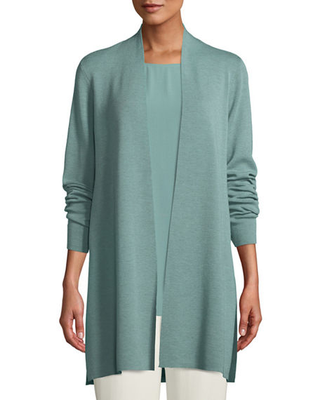 Eileen Fisher Petite Ultrafine Merino Straight Long Cardigan