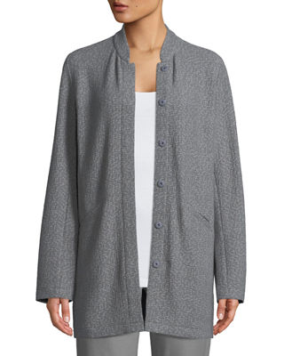 Eileen Fisher Textural Cotton Stretch Jacket, Petite