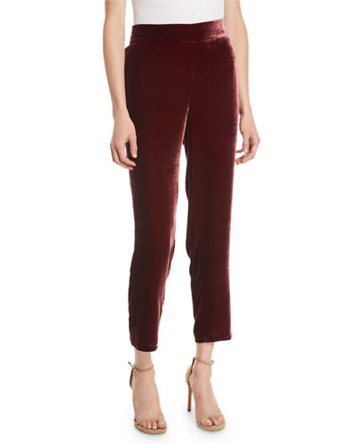 Velvet Ankle Trousers, Plus Size